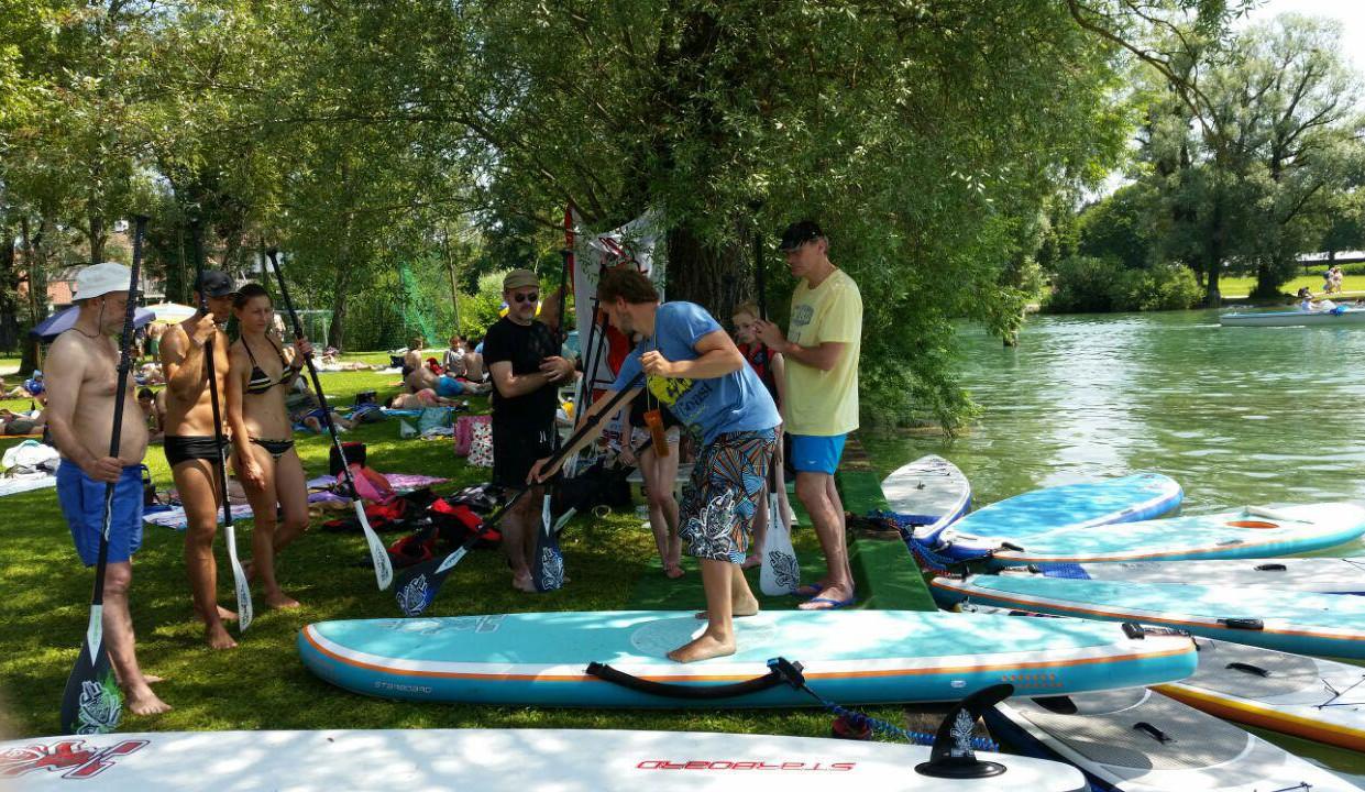 2h SUP-Verleih für Gruppen in Starnberg