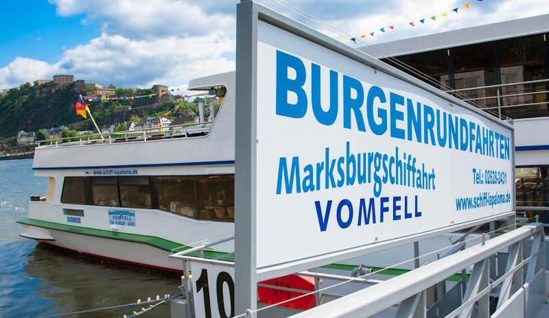 Burgen-Rundfahrt mit dem Schiff in Koblenz