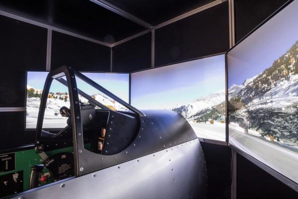 Jagdflugsimulatoren: P-51 Mustang und Messerschmitt Bf109